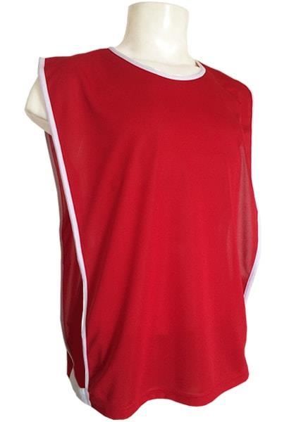 d5cd505a54 Colete de Futebol Vermelho - Tecido Liso